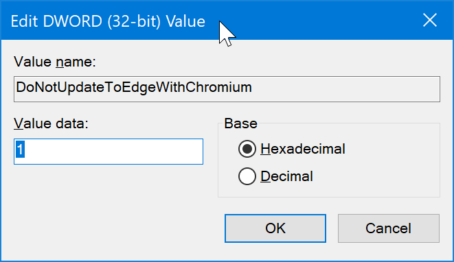 block Chromium based Edge from automatically installing in Windows 10 pic05