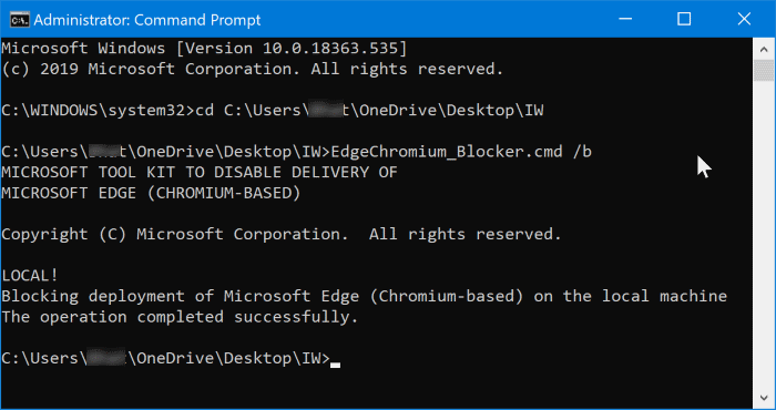 block Chromium based Edge from automatically installing in Windows 10 pic5