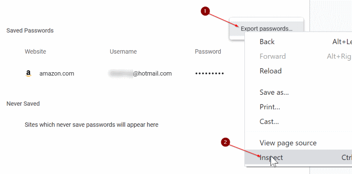 import passwords into Chrome from CSV file pic3