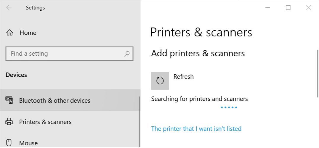 printer network error