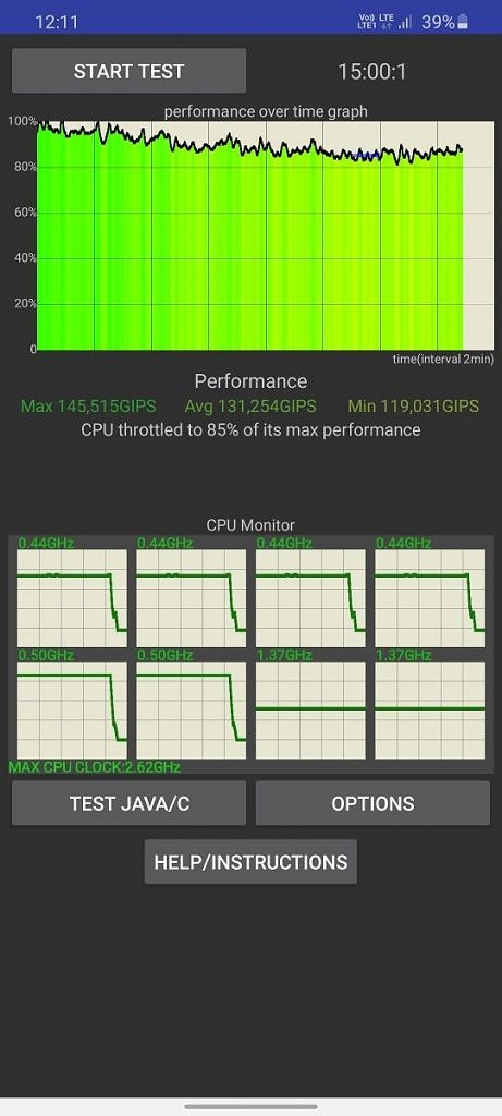 Тест процесора на Samsung CPU Samsung Galaxy S20