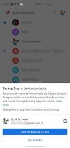 Контакти Google