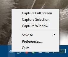 Screen tray menu