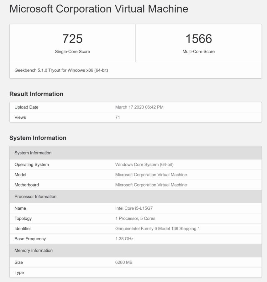 ОС Windows Core з'являється в новому орієнтирі 1