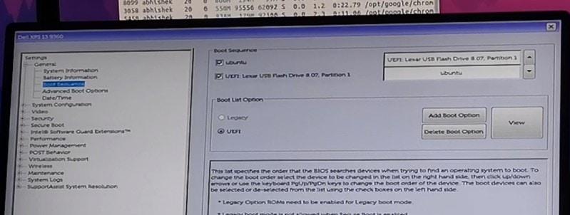 Boot Order sa BIOS