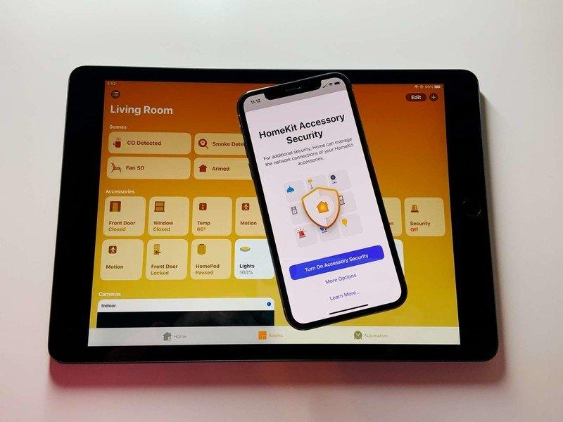 HomeKit router splash screen displayed on an iPhone