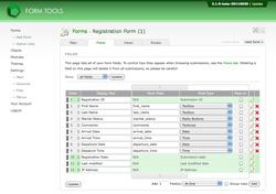 Edit Form -> Fields tab Form Tools online form creator