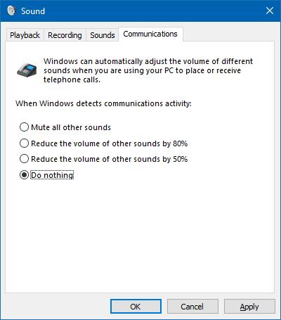 Інші налаштування звуків