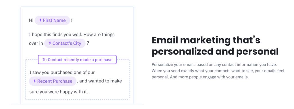 ActiveCampaign Personalization