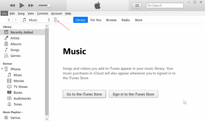 back up iphone to Windows 10 PC with iTunes pic1
