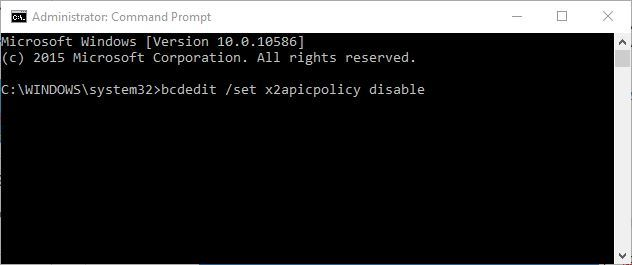 bcdedit-x2apicpolicy