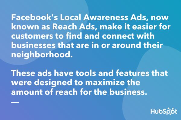 Facebook Local Awareness Ads definition