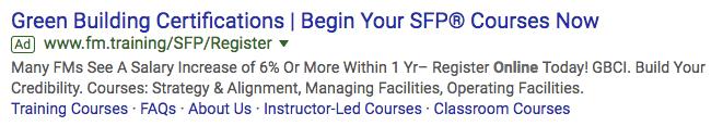 fm.training google ads campaign