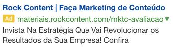 rock content google ads campaign