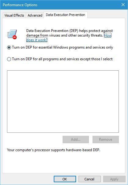 turn-on-DEP-for-essential-windows-programs