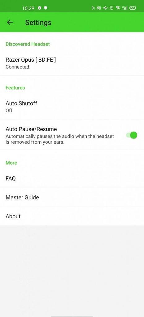 Razer Opus Android app
