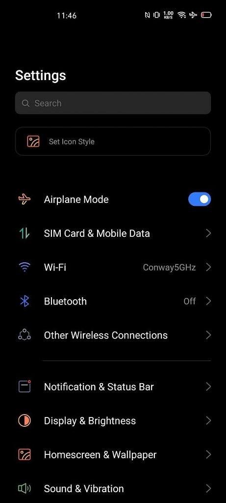 Realme UI on the Realme X50 Pro 5G