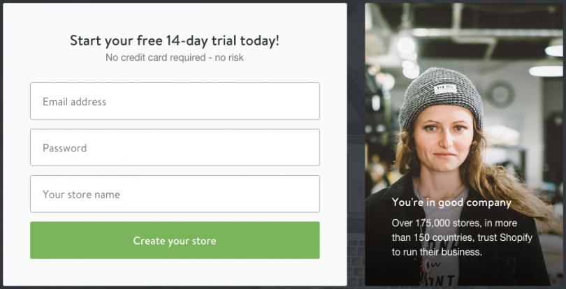 Shopify註冊