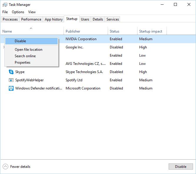 禁用啟動程序任務管理器,其他安裝已在進行中