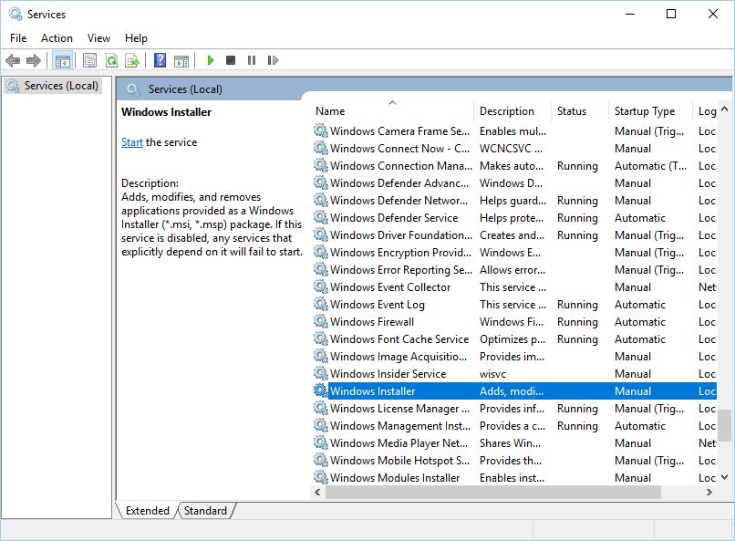 重置 windows 安裝程序服務另一個安裝已在進行中