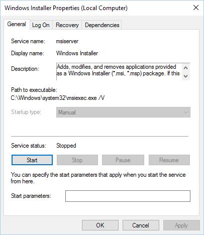 開始 windows 安裝程序服務安裝已在進行中
