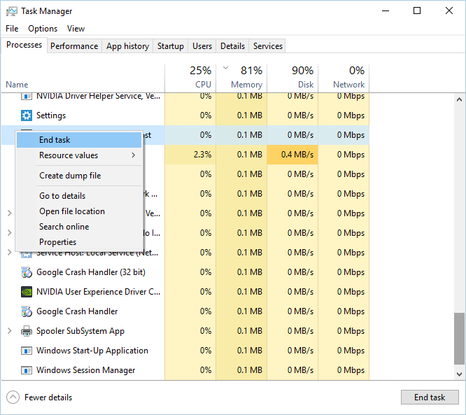 殺 Windows 任務管理器中的安裝程序過程另一安裝已在進行中