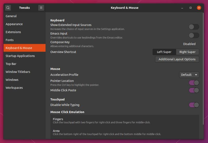 Gnome Tweaks Tool Ubuntu 20 04
