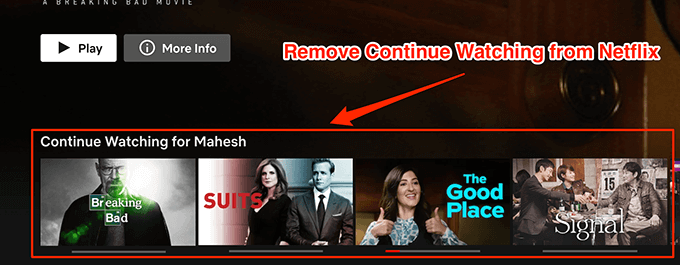 How To Remove Continue Watching From Netflix Websetnet