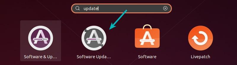 Software Updater in Ubuntu 20.04