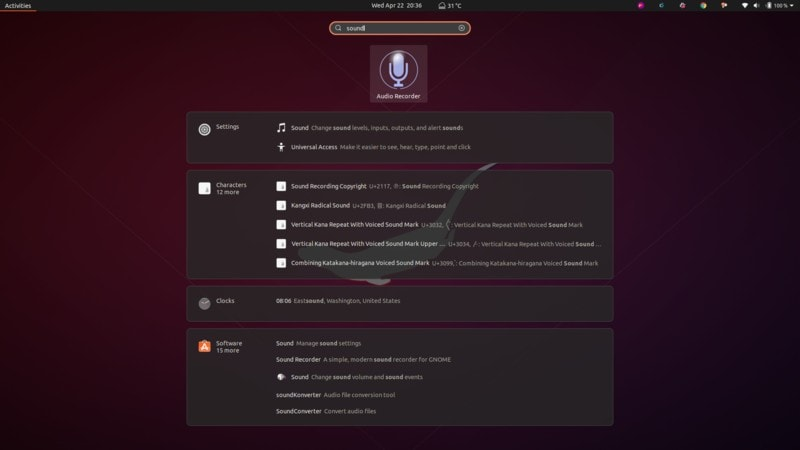 Ubuntu Desktop Search 1