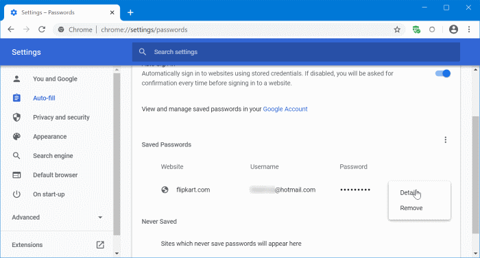 update passwords saved in Google Chrome pic2