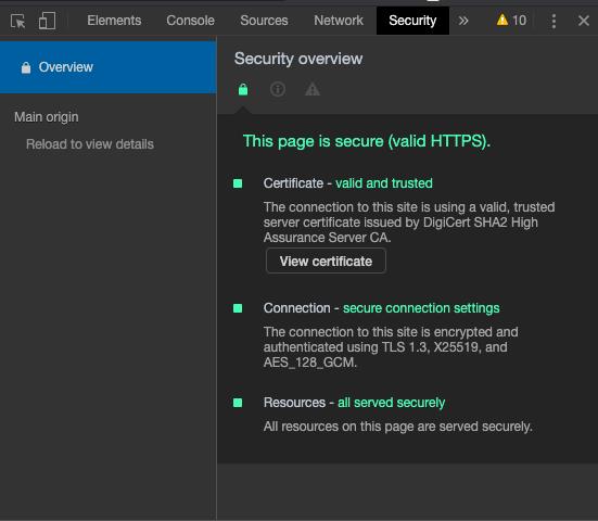 HubSpot's validity certificate.
