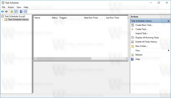 Windows 10 Task Scheduler Library