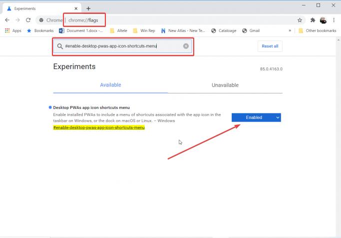how to enable desktop PWAs