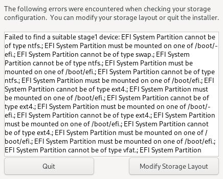 EFI error