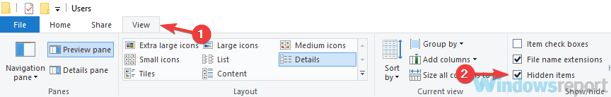 hidden items show steam browser not working