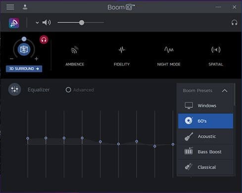 boom 3d raise laptop volume