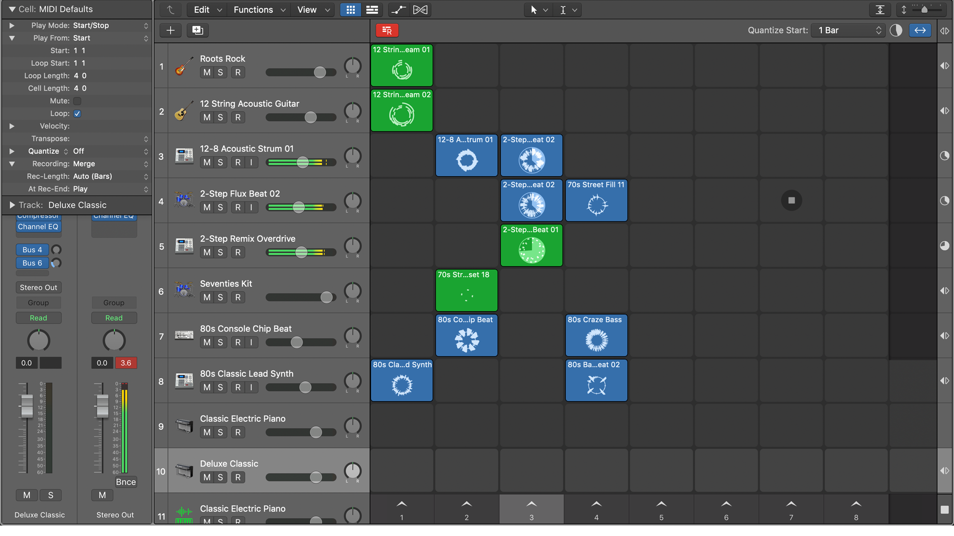Logic Pro X 10 5評論:Live Loops