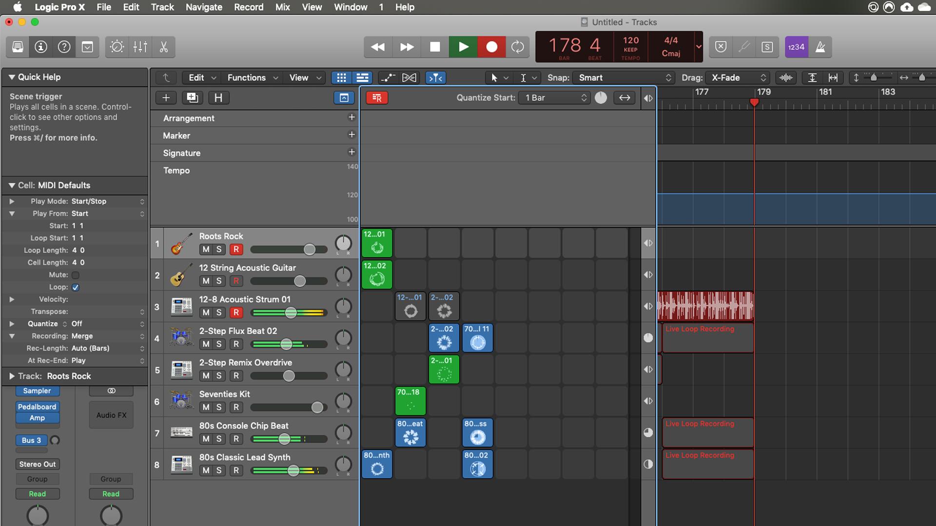 Logic Pro X評論:實時循環錄製