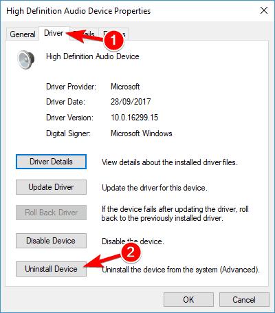Nvidia高清音頻不起作用 Windows 10
