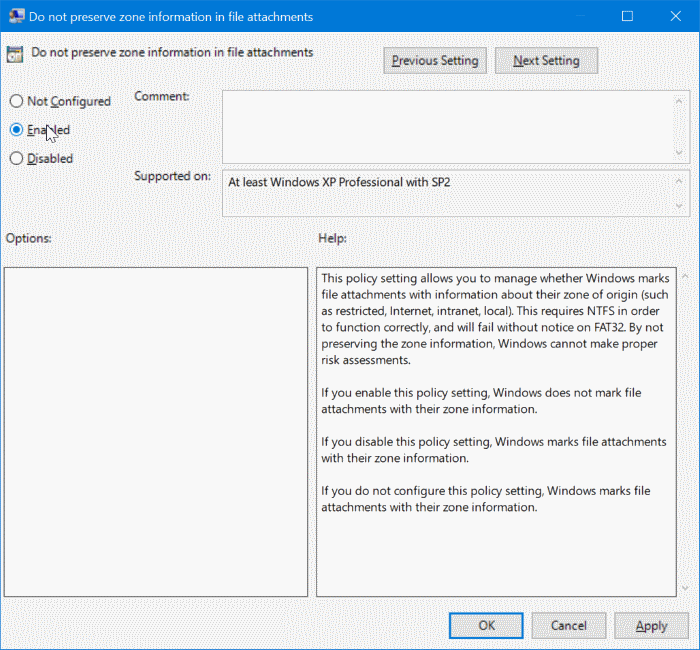stop Windows 10 from blocking downloaded files pic2