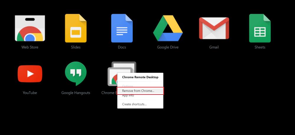 Uninstall Chrome Apps on Windows