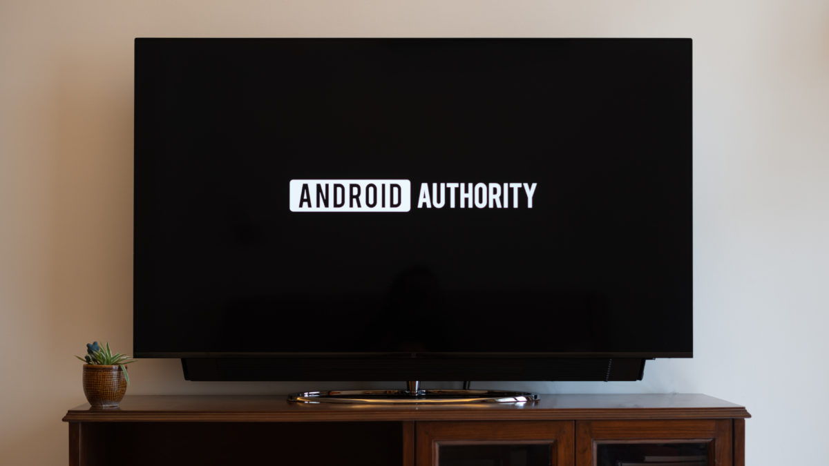 OnePlus TV with Android Authority logo