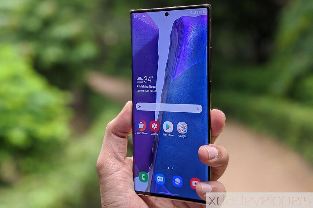 Samsung Galaxy Note 20 Ultra 5G display