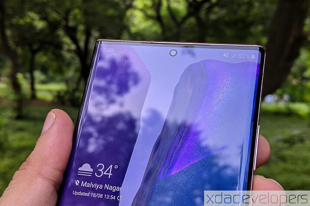 Samsung Galaxy Note 20 Ultra display