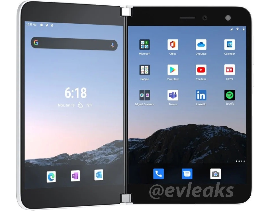Surface Duo Android UI