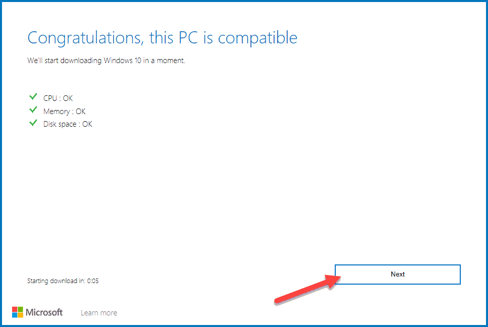 Compatibility Check by Update Assistant before installing latest updates