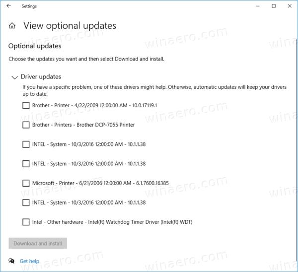 Windows 10 Optional Updates 3