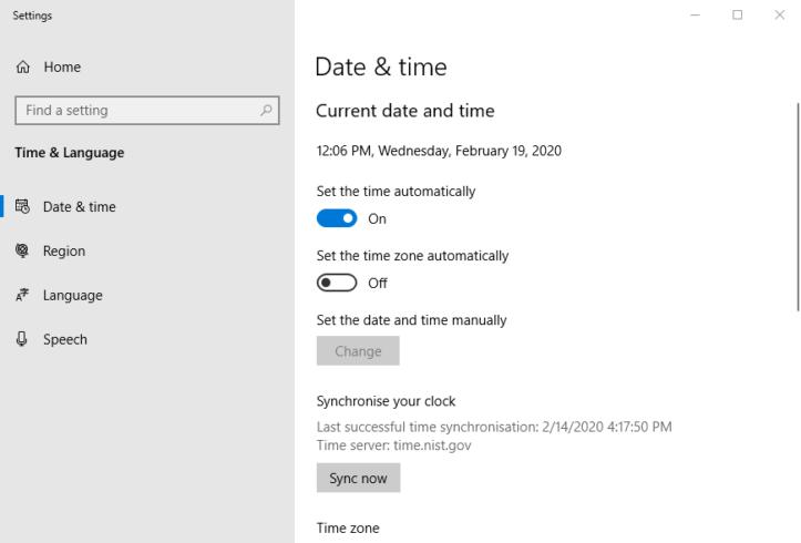 Date & time tab firefox error SEC_ERROR_OCSP_FUTURE_RESPONSE