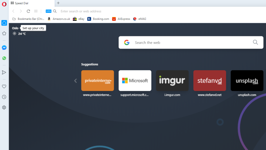 switch from chrome to opera